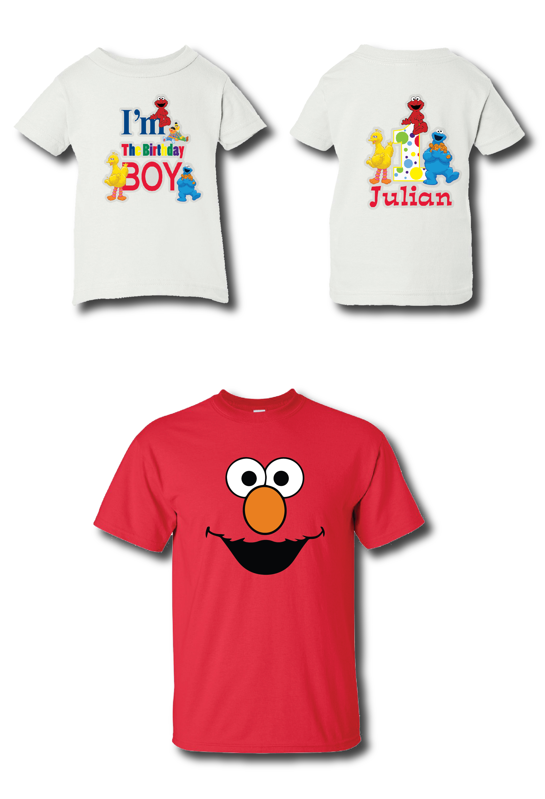 Las Playeritas Custom Elmo Sesame Street Birthday T Shirts